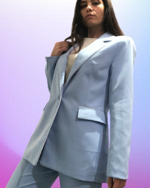 blazer celesre profilo bianco lumina fashion