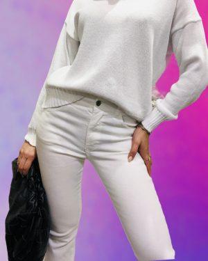 jeans capri bianco