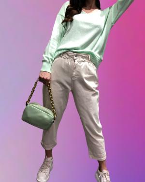 jeans mom ffit con elastico