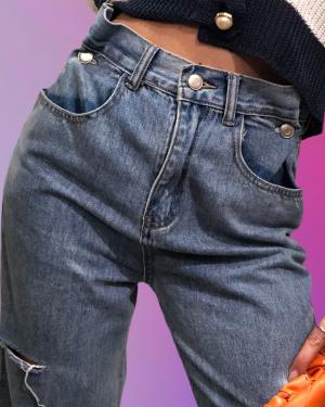 jeans stefania vita alta