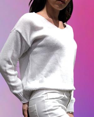 maglione bianco in filo