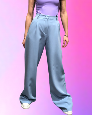 pantalone celeste lumina fashion