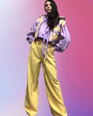 pantalone giallo lumina fashion
