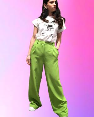 pantalone lumina verde