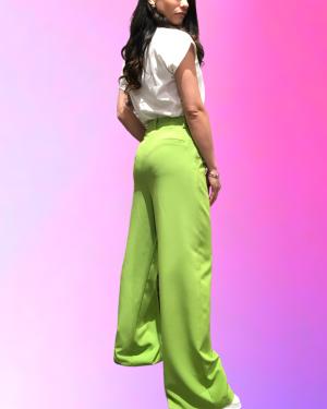 retro pantalone verde lumina fashion
