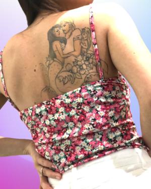 body flower rosa