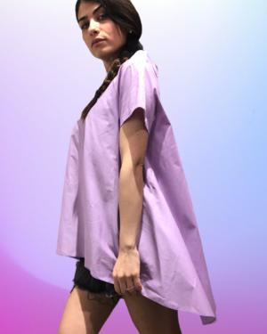 camicia lilla