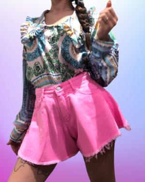 shorts farfalla rosa